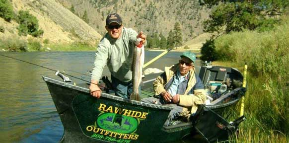 Idaho Fishing Guides, Fishing Boat