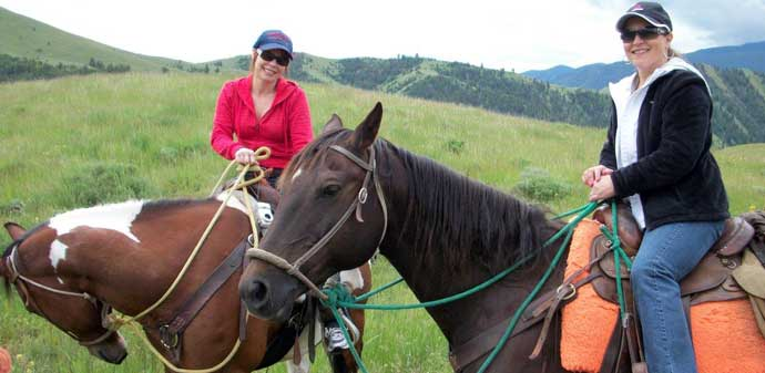 Idaho family vacations, horseback riding