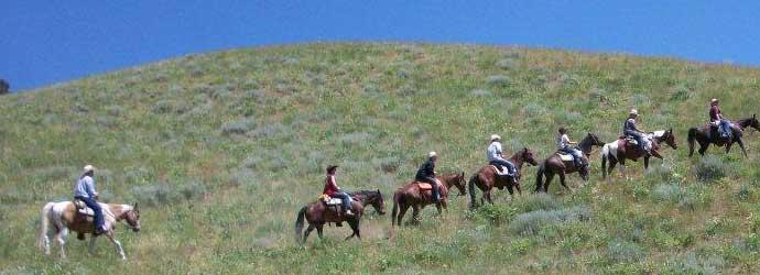 Horseback mountain trail rides, Idaho