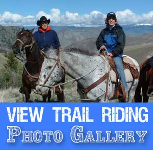 Trail Riding Photos, Idaho Horseback  Riding