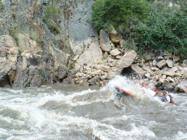 Exciting white water, Salmon River Rafting